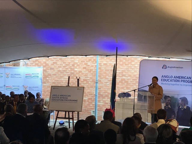 Anglo American launches their education initiative in May 2018