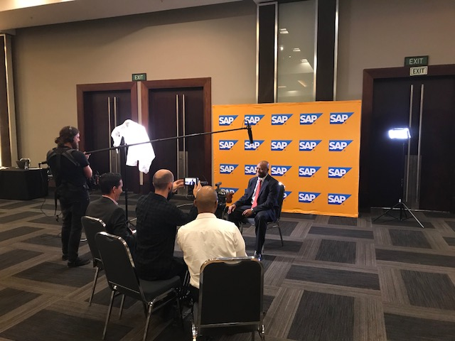 SAP customers being interviewed at the 2018 Quality Awards